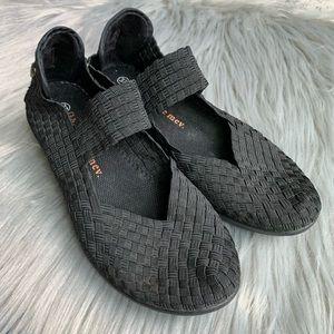 Bernie Mev. Lulia Mary Jane Black Shoes, sz 7
